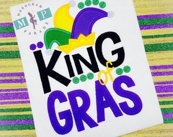 Boys Mardi Gras shirt - Carnival - Parade - Personalized-Fat Tuesday - Mardi Gras - 1st Mardi Gras - King of Gras - Mardi Gras King