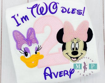 Miss Mouse Second Birthday Shirt - Twodles - Oh Toodles - Miss Mouse 2nd Birthday