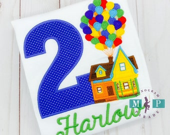 UP Birthday Shirt - UP House - Any year available - Girls Birthday Shirt