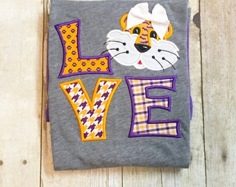 Tiger Love Shirt - Tiger Spirit Shirt - SEC Football - College Gameday - Football Shirt - Girls Tiger Shirt - LSU Tigers - Tiger Football