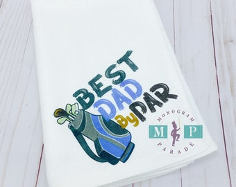 Best Dad by Par - Golf - Towel - Fathers Day