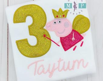 Peppa Pig Birthday Shirt - Any year available - Peppa Pig Fairy - Pig Birthday Shirt