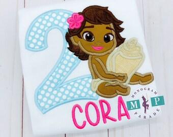 Hawaiian Princess birthday - girls birthday - Moana birthday shirt - baby Moana
