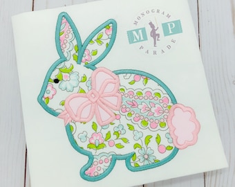 Girls Monogrammed Easter Bunny Bodysuit or Shirt - Easter Bunny - Girls Easter - 1st Easter - Baby Easter - Monogrammed Bunny