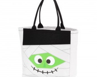 Marvin Mummy Halloween Tote - Candy Bag - Trick or Treat Tote - Trick or Treat Bag - Personalized