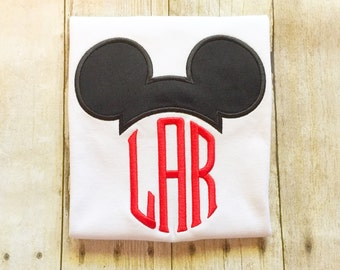 Boys Mr Mouse Bib, Bodysuit or Shirt - Mr Mouse - 1st Disney Trip - Monogram Mr Mouse