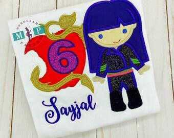 Evil Princess birthday - Girls Birthday Shirt - princess birthday - any year available