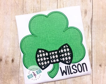 Boys Shamrock Shirt or Bodysuit - St Patrick's Day - St Paddy's Day - St Patty's Day - 4 leaf clover - Lucky Charm