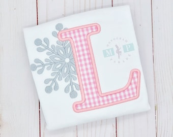 Girls Winter Birthday - One-derful Birthday - Snowflake Alphabet - Snowflake Birthday - winter wonderland