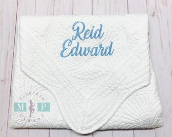 Monogrammed Baby Quilt - Personalized Baby Quilt - Monogrammed Baby Blanket - Baby Quilt - Baby Blanket - Baby Shower Gift - Heirloom Quilt