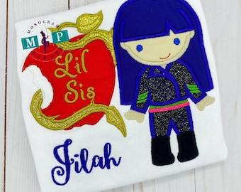 Evil Princess birthday - Girls Birthday Shirt - princess birthday - any year available - little sister - lil sis