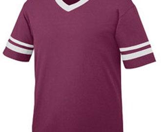 SALE! Girls Monogrammed Short Sleeve Spirit Shirt - Girls Football Tee - Girls Football Jersey - Crimson and white - maroon - SEC Football