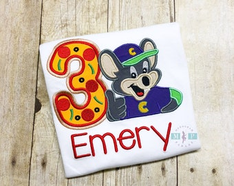 Chuck E Cheese Birthday Shirt - Any Birthday Year - Boys Birthday Shirt - Monogrammed Birthday Shirt - Chuck E Cheese