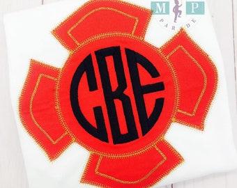 Boys Fire Badge - Fireman - Firefighter - Firefighter shirt - monogram fire