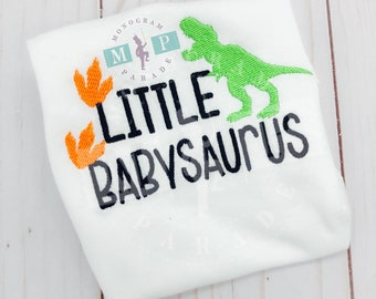 Little Brother Shirt or Bodysuit - little Brother - Big Bro - little bro - Monogrammed Brother Shirt - babysaurus - new baby announcement