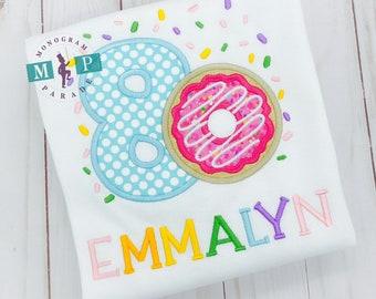 Girls Donut Birthday Shirt - Any year available - Doughnut birthday - Sprinkle Birthday