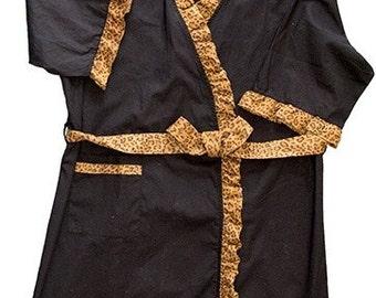 Ladies Leopard Print Robe - Bridal Robe - Bridesmaid Gift - Wedding Party Robe - Bridal Party Robe