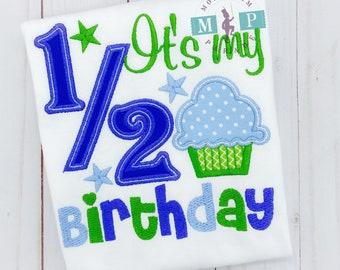 It's my 1/2 Birthday Bodysuit - half birthday - birthday bodysuit - Boys 1/2 birthday