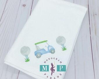 Golf Towel - Cart - Tee - Golf Ball - Fathers Day