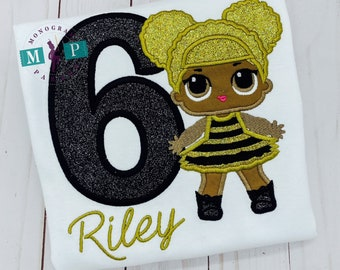 Queen Bee birthday - girls birthday - doll birthday - Queen bee doll