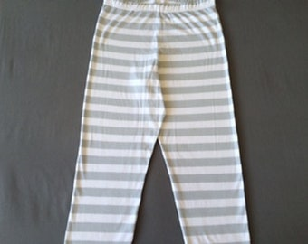 Adult Organic Pajama Pant - Stripe-Polka Dot