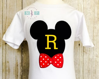 Boys Mr Mouse Shirt or bodysuit - mr mouse with bowtie - monogram mr mouse