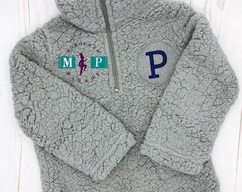 Boys Sherpa pullover - 1/4 zip pullover - Boys jacket