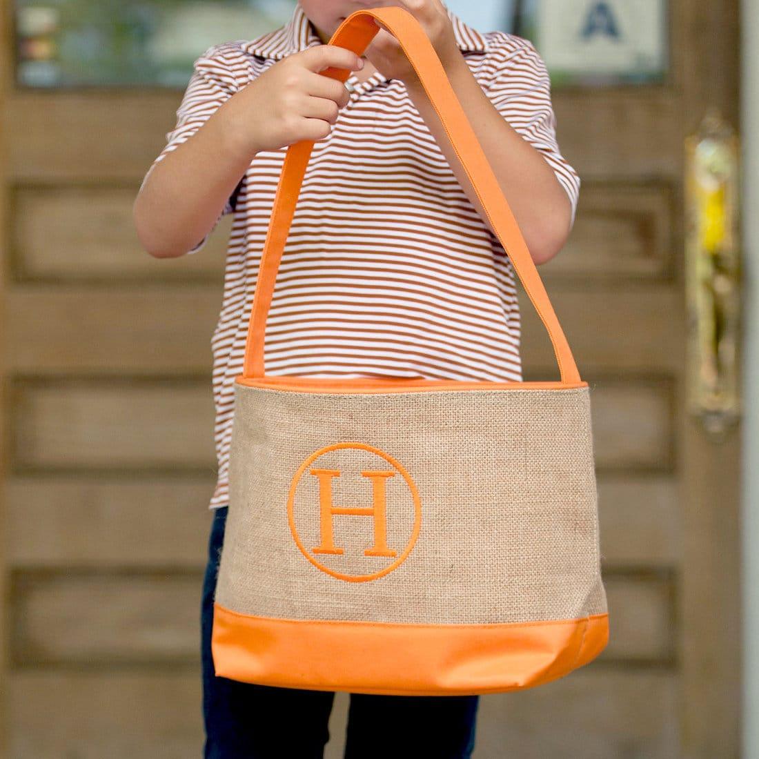 Halloween Bucket Monogram Trick or Treat Bag Halloween Candy Bag Halloween Bag