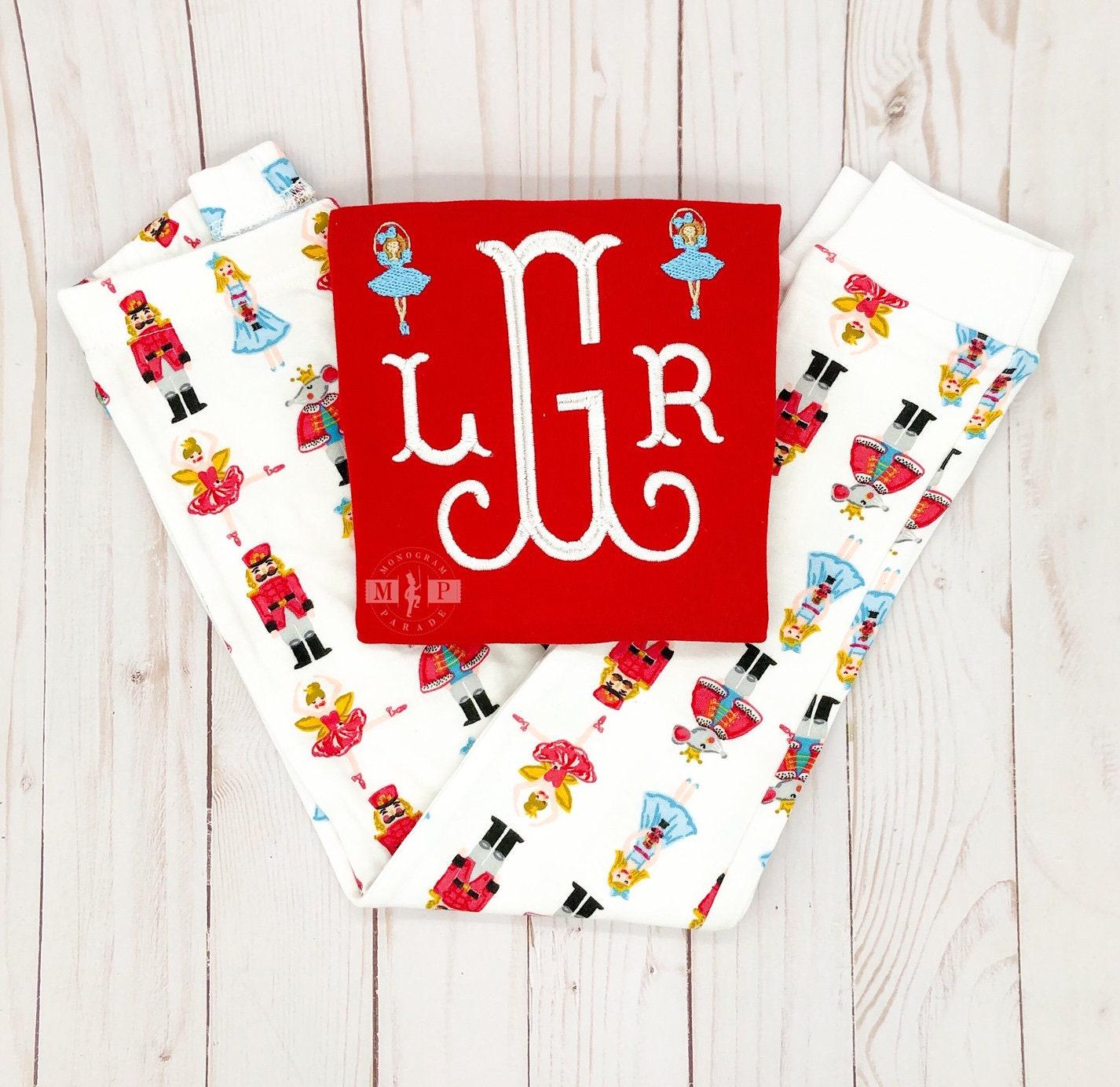 Christmas Pj.Girls Christmas Pajamas Nutcracker Pajama Monogram