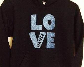 Girl's Dancing Sweatshirt, Girl's Black Hoodie, Girl's Fleece Hoodie