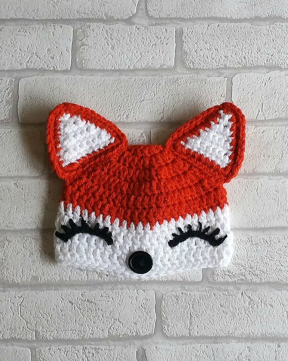 CROCHET FOX PATTERN digital girl fox hat pattern crochet  80bb087660c