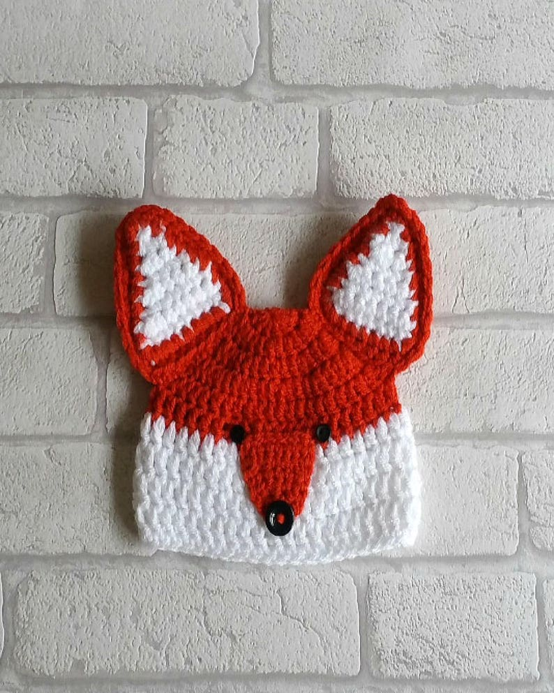 CROCHET FOX PATTERN digital boy fox hat pattern crochet  9113aa74f4b