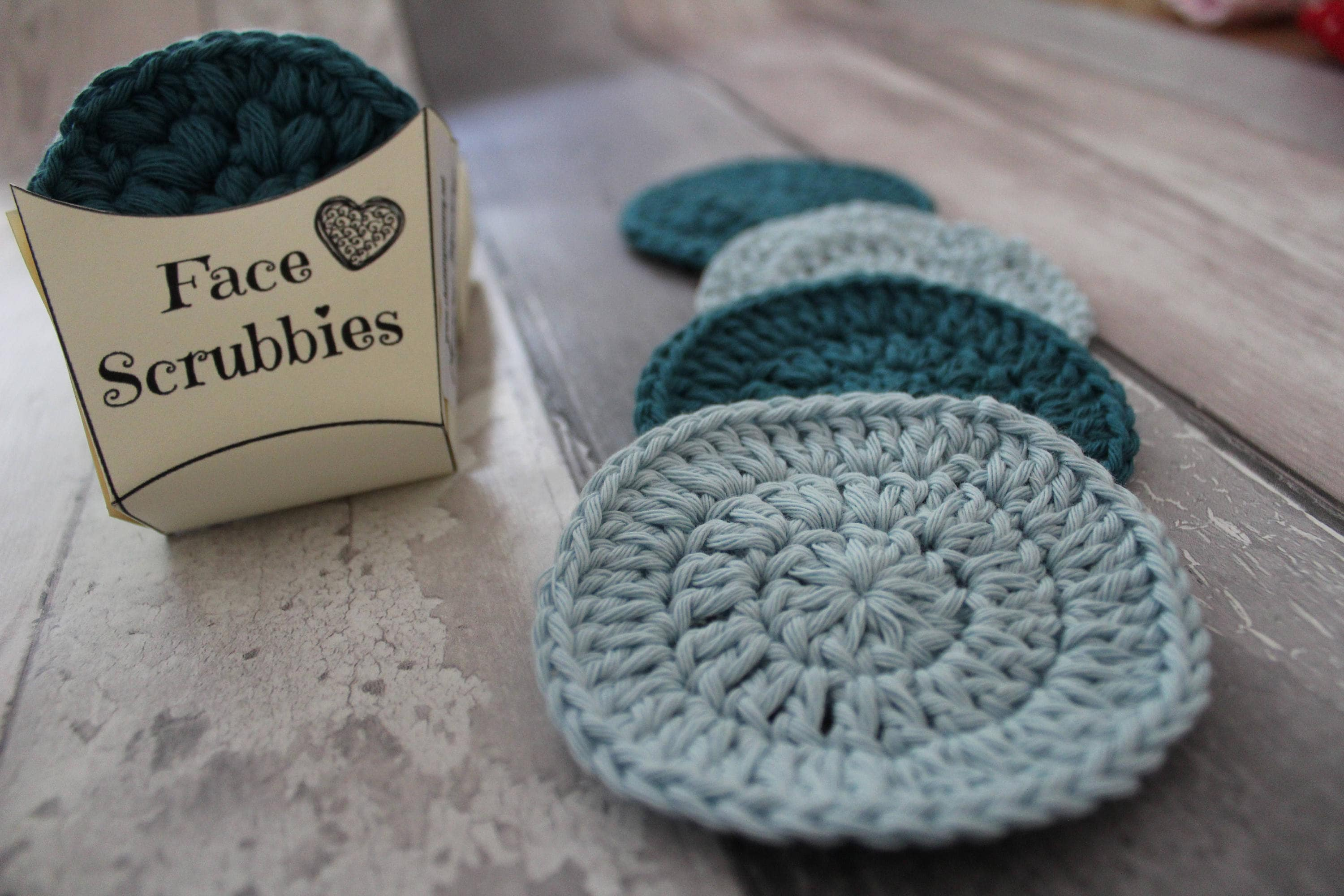 CROCHET FACE SCRUBBY Digital Pattern and packaging crochet pattern ...