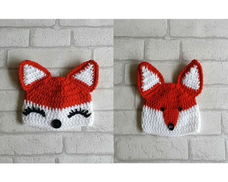 4b3c1c16fd8 CROCHET FOX PATTERN digital crochet fox hat patterns girl fox