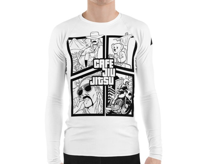 Cafe BJJ Lifestyle rash guard