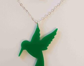 Hummingbird Necklace - Acrylic