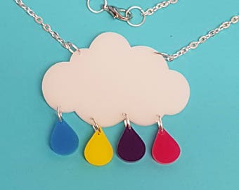 Raincloud Necklace - Acrylic