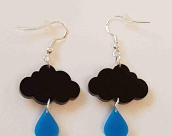 Raincloud Earrings - Acrylic