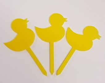 Little Duck Cupcake Toppers x 3 - Acrylic
