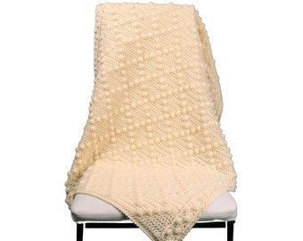 Crochet Pattern ALL SIZES, Diamonds Blanket, Crochet Blanket Pattern, Crochet Afghan Pattern, Bobble Stitch Blanket, Crochet Baby Blanket