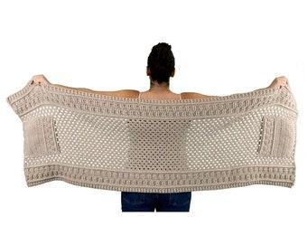 Crochet Pattern - Pockets Shawl, Pockets Scarf, Scarf With Pockets, Shawl Pattern, Bulky Scarf Pattern, Crocheted Shawl with Pockets Pattern
