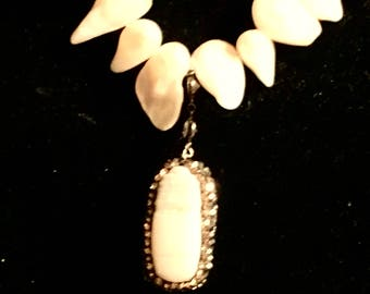 Fresh Water Pearls Pendant with Swarovski crystal Necklace