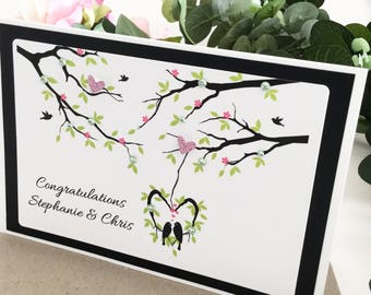 Engagement Card, Just Engaged Card, Getting Married Card, Congratulations Card, Newly Engaged Couple Gift, Personalised Engagement Gift