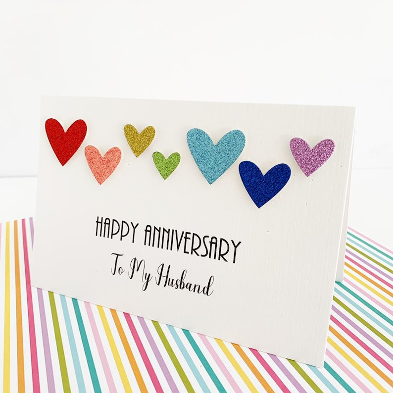 Gay Anniversary Card To My Husband, Happy Anniversary Card for Husband  Personalised, Gay Pride, LGBT Anniversary