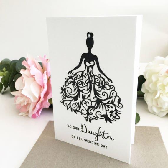 Bruiloft Dochterkaart Aan Onze Dochter Op Haar Bruiloft Day Card Wenskaart Bruid Bruiloft Cadeau Dochter Wedding Day Card Voor Dochter
