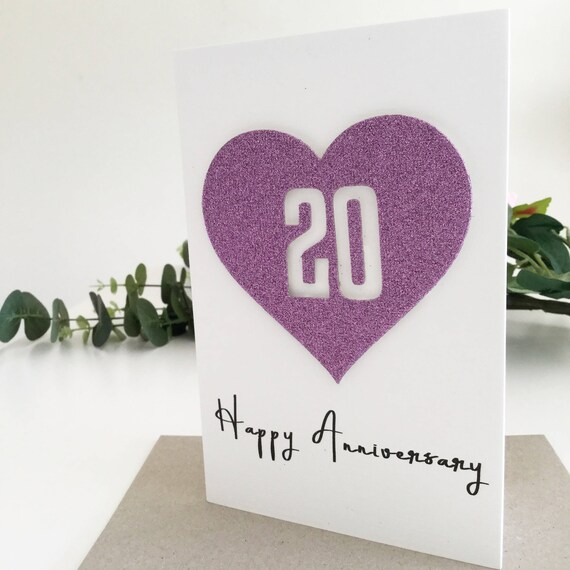 20 Year Wedding Anniversary Gift Ideas: 20 Year Anniversary Gift Ideas 20th Anniversary Card