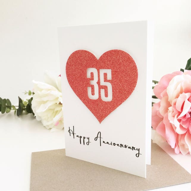 35th anniversary card 35th anniversary gift for husband 35th etsy