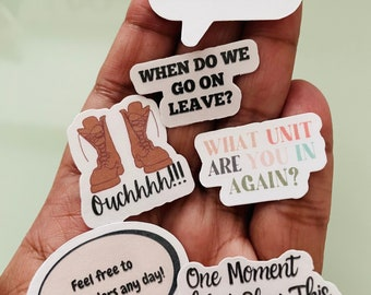 Military Spouse Quotes Sticker Pack |Military Stickers| Military Life Stickers, Military Gifts, Army Wife, Marines, PCS gift