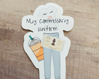 Military Spouse Commissary Sticker Military Wife Stickers, Army Wife, Navy Wife, Airforce Wife, Marine Wife