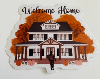 Military Welcome Home Sticker |Fall Sticker| Military Wife Stickers, Military Gifts, Military Spouse Planner, Military Spouse